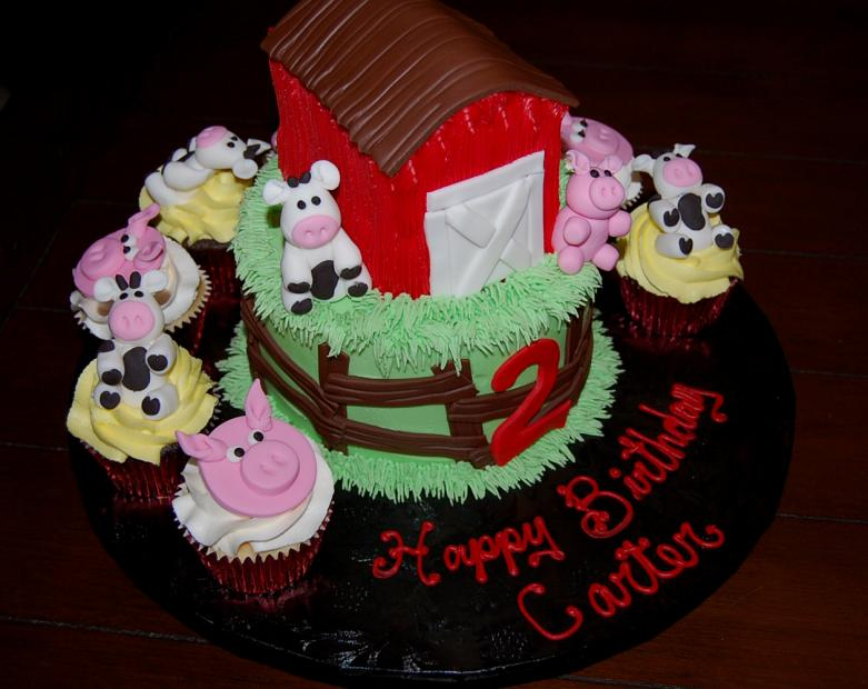 Farm Birthday Party Cakes