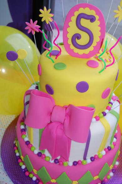 Katie 5th Birthday Cake Fondant whimsical