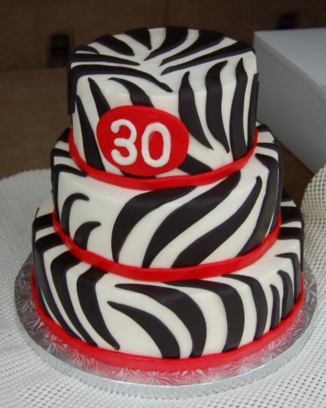 30th Birthday Zebra striped